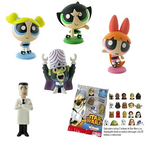 Lote 5 Figuras Comansi Las Super Nenas - Burbuja - Pétalo - Cáctus - Mojo Jojo - Profesor Utonio+ Regalo