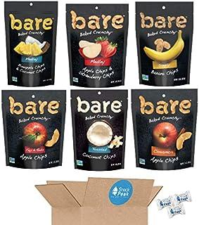 Bare Baked Crunchy Fruit Chips Snack Peak Variety Gift Box – Coconut, Apple, Cinnamon Apple, Banana, Apple Strawberry Medl...