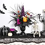 GMOEGEFT Halloween Decorations Artificial Rose Faux Flowers Fake Plants with Gnome Tabletop Centerpieces Decor for Home Kitchen Garden Party