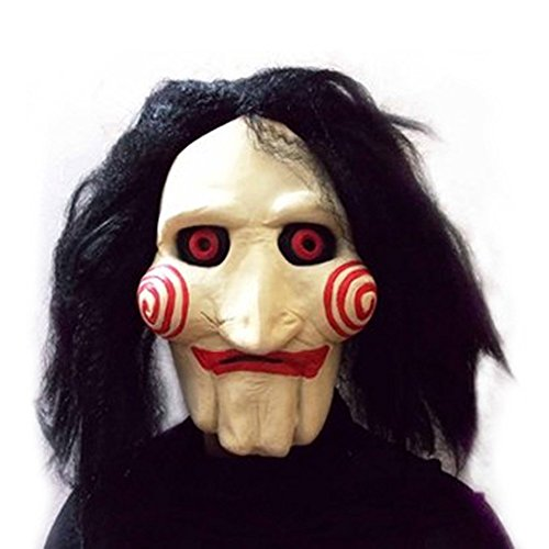 UK A2Z Halloween Full Head Latex Mask Saw Movie Jigsaw Puppet Creepy Scary Maske