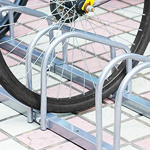 wolketon Soporte Para Aparcar Bicicletas Aparcamiento bicis Aparcabicis en Suelo o Pared Aparcamiento para 6 bicis