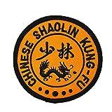 Parche bordado con el símbolo chino de Shaolin Kung-fu para coser o planchar