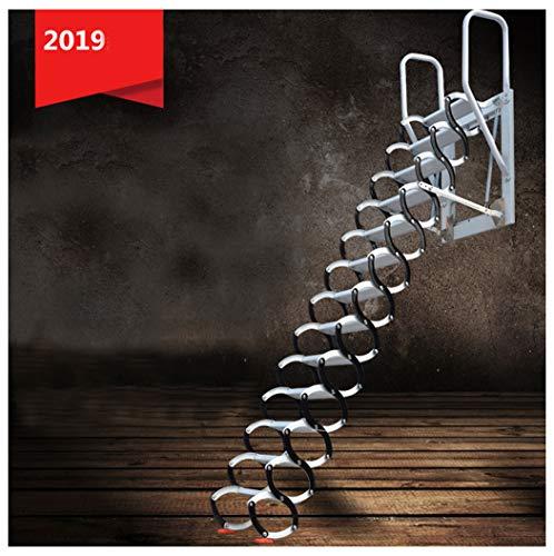 Escalera telescópica del ático montado en la pared escaleras del ático del hogar escaleras plegables plegables altura personalizada 1-3.5M (H/2.3-2.6M)