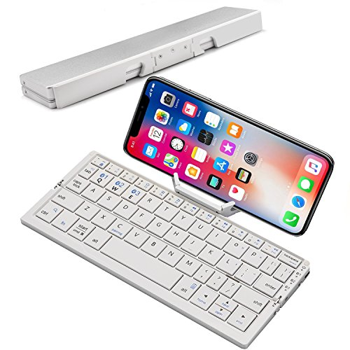 SCKL Folding Keyboard Portable Wireless Keyboard for iOS and Windows Tablets Android Foldable Bluetooth Keyboard