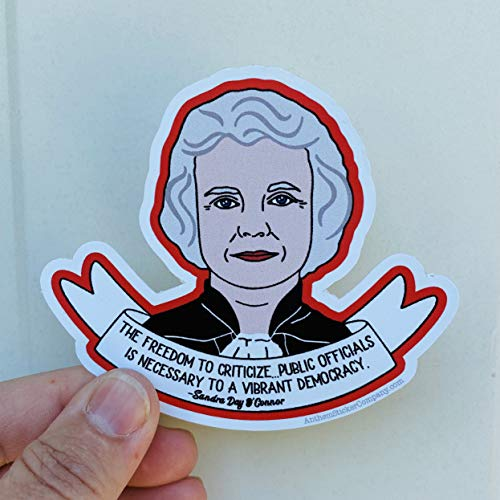 Lplpol The Freedom to Criticize Sandra Day O'Connor Quote Vinyl Sticker 6 inches