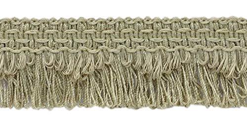 DecoPro décoratifs Grès Beige festonné Boucle Frange/Tresse, 4 cm, Style # 9115 Couleur : A10 (C12) (Vendu par la Cour (0,9 m = 91 cm/0,9 m/91,4 cm)