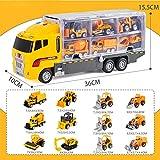 FairOnly Aleación Gran contenedor de Almacenamiento Camión Niños Vehículo Mini Rescate Emergencia Fire Truck Toy Set Ingeniería - camión contenedor de Almacenamiento de aleación Grande