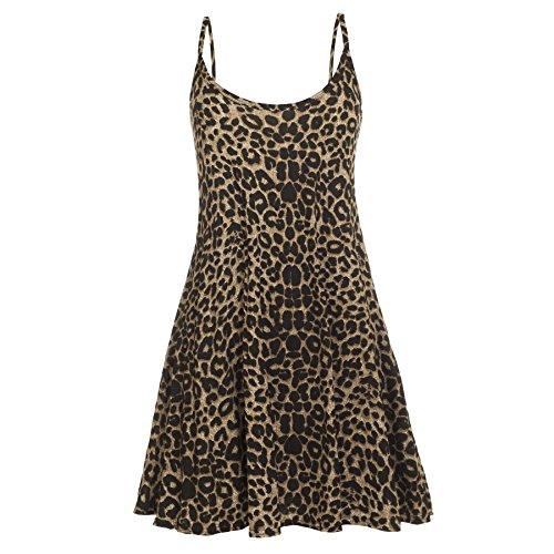 Oops Outlet, abito da donna senza maniche Leopard - Animal Cheetah Print Franki S/M (UK 8/10)