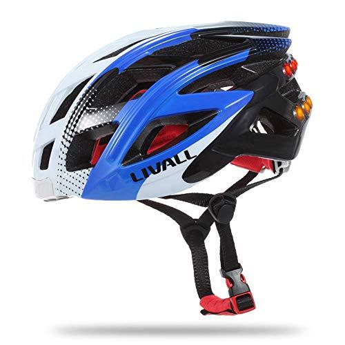 YJTGZ Casque de vélo Casque Bluetooth avec Casque de Talkie-walkie et Fonction d'alarme SOS/Feux arrière de sécurité Peuvent répondre au téléphone Casque de Collision de vélo de Montagne