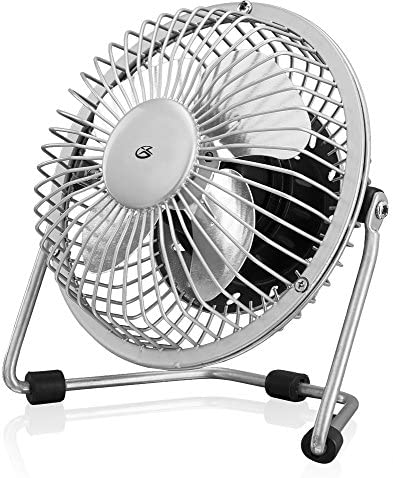 GPX Mini 4 Inch USB Personal Fan Compatible with Computers Laptops Portable Chargers Silver product image