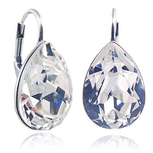 Ohrringe mit Kristallen von Swarovski® Silber Ohrhänger NOBEL SCHMUCK