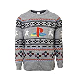 Playstation Official Console Christmas Jumper/Ugly Sweater UK L/US M Grey