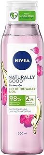 Nivea Naturally Good Body Wash,Lily of the Valley & Oil Shower Gel, No Parabens, Vegan Formula, 98% Natural Origin Ingredi...