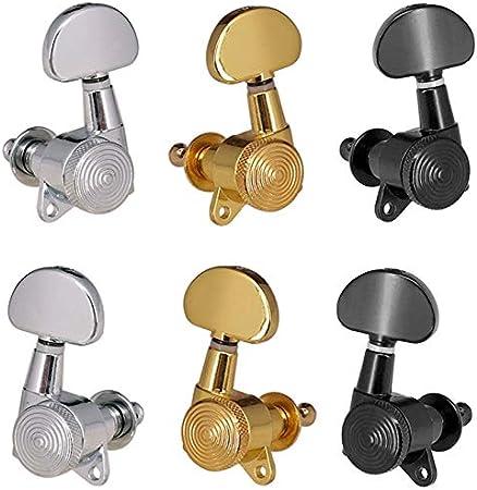 HAOHAO 3R3L Or Locked Cordes Tuners Tuning Peg Key MECANIQUES Bouton for DemiCercle Guitare Acoustique Serrure /électrique Schaller Style Color : Gold 3R3L