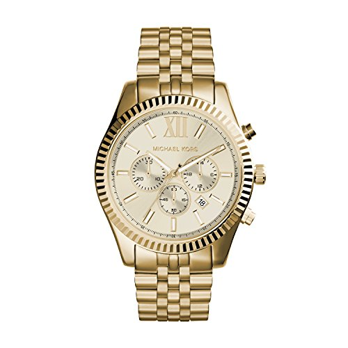 Our #5 Pick is the Michael Kors Men's Lexington Chronograph Stainless Steel Watch