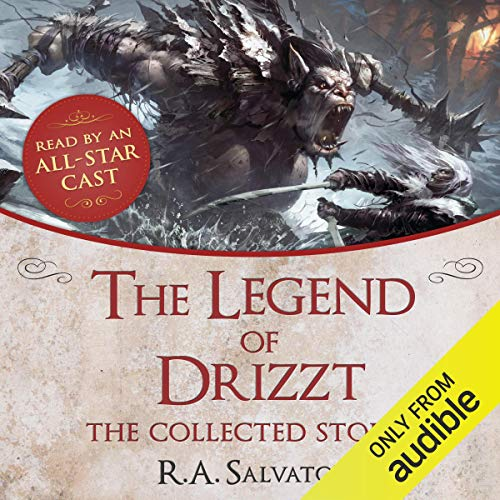 Page de couverture de The Legend of Drizzt: The Collected Stories