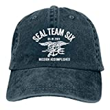 KioHp Seal Team Six Classic Plain Unisex Gran Gorra de béisbol Ajuste para actividades al aire libre Mantener la cabeza fresca seis paneles Cap azul marino