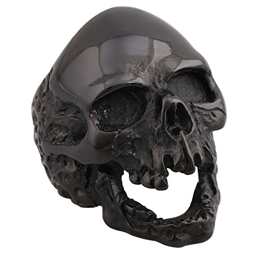 4ZOM Dead Walking Solid Death Skull Zombi Mens Solid Stainless Steel Ring Size 11