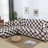WXQY La Funda de sofá Moderna es Adecuada para Funda de sofá Modular en Forma de L, Funda de sofá elástica elástica para Sala de Estar A7 de 4 plazas