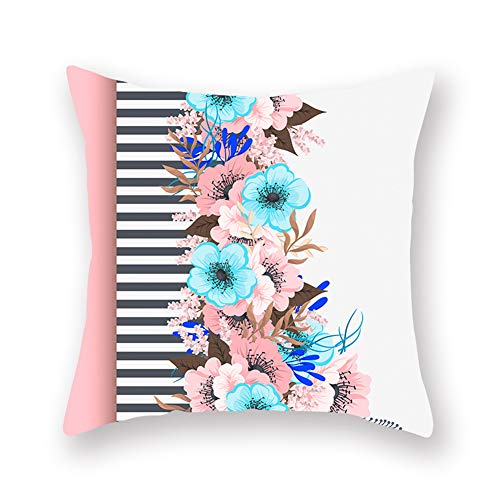 Absir Plants Flowers Pattern Letter Printing Throw Pillow Cover for Car Sofa Bed (9) DM117 45 * 45cm