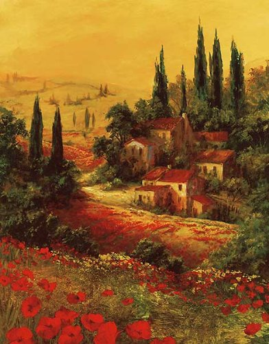 Picture Peddler Toscano Valley I by Art Fronckowiak Landscapes European Tuscany Print Poster (Choose Your Size)