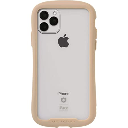 iFace Reflection iPhone 11 Pro Max ケース クリア 強化ガラス [ベージュ]