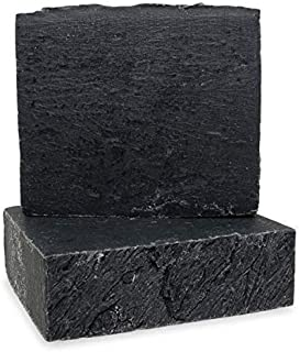 Large Bar 4.5 oz. - Activated Charcoal Vegan Soap Bar - For Acne, Psoriasis & Eczema. All Natural Face Cleanser & Body Soap. For Men, Women & Teens.