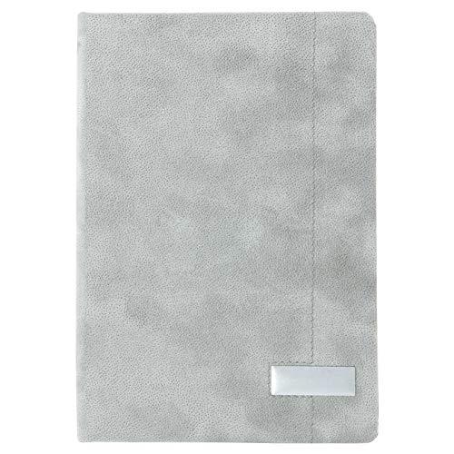Notizbuch A5 grau mit Steinpapier mit Gravur Namen Text