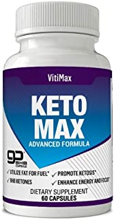 VitiMax Premium Keto Diet Pills - Utilize Fat for Energy with Ketosis Pills - Boost Energy & Focus, Manage Cravings, Support Metabolism - BHB Ketogenic Supplements for Men and Women