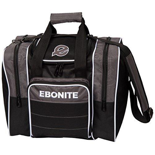 Ebonite Impact Plus 1 Ball Bowling Single Tasche mit Platz für Ball, Schuhe und Zubehör in verschiedenen Farben (Grau 2017)