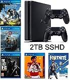 2019 Playstation 4 Slim PS4 2TB SSHD Console + Two Dualshock-4 Wireless...