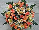 roselynexpress Composition de Fleurs artificielles, lesté Ciment pour Une très Bonne Tenue à l extérieur. Réalisé par nos Soins, Les Fleurs sont Aussi de très Bonne Tenue et qualité.