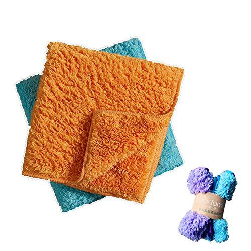 JIAXIA Productos de Limpieza 2pcs / Set Paño de Limpieza súper Absorbente Microfibras Suaves y esponjosas para Trapos de Microfibra de Limpieza doméstica Tabla 35 * 35cm 2pcs Color Aleatorio