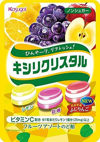 春日井製菓 キシリクリスタル フルーツアソート のど飴 67g×4袋
