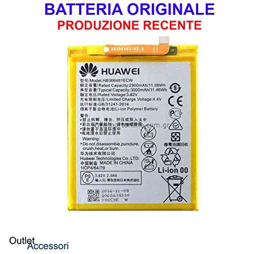 Preisvergleich Produktbild Batterie / Batterie Original Huawei P10 Lite hb366481ec W was-lx1 a OEM 1er Bulk Kurier Notebook Innenraum Akku Genuine-Schutzhülle