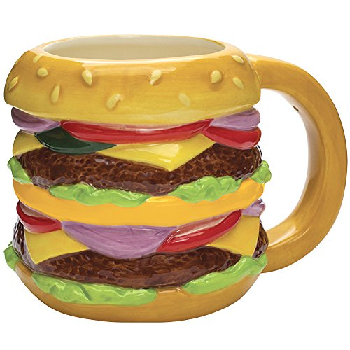 Streamline Ceramic Novelty Cheeseburger Mug