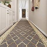 Corredores de alfombras Largo Pasillo estrecho Sala de estar Corredor de alfombras, Moderna alfombra gris para sala de vestíbula Cocina de sala de habitaciones, 80 cm / 100cm / 120cm / 140cm de ancho