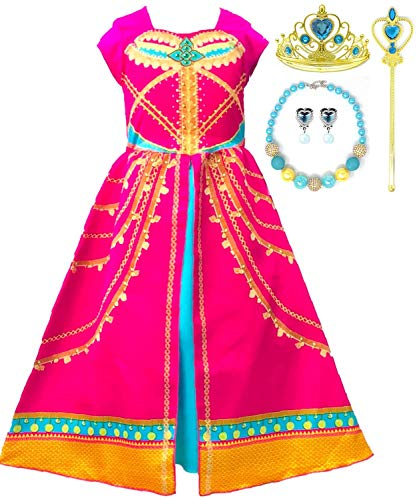 Romy's Collection Pink Arabian Party Costume Dress-Up Set, 4-5