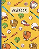 Notebook: Softball Cartoon Cover - Lined Notebook, Diary, Track, Log & Journal - Cute Gift for Kids, Teens, Men, Women, Softball Players & Coaches (8' x10' 120 Pages)