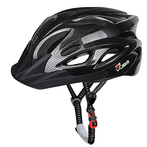 JBM Adult Cycling Bike Helmet for Men Women (18 Colors) Black/Red/Blue/Pink/Silver Adjustable Lightweight Helmet with Reflective Stripe and Removal