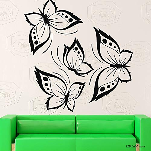 zhuziji Wandtattoos Soldierbeautiful Home for Butterflies Nordic Schlafzimmer, Campus, Kindergarten Mit Vinyl Pvc84X88Cm
