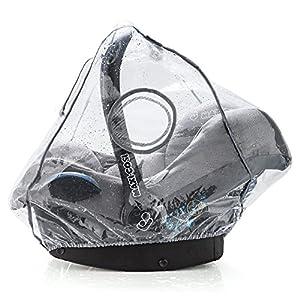 Zamboo Protector de lluvia Grupo 0+ (compatible Maxi-Cosi / Cybex / Römer) - Burbuja de lluvia con ventana frontal, circulación del aire, apertura para el asa, sin PVC