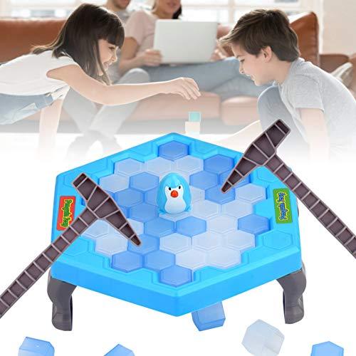 Juego de trampa de hielo triturante salvar el pingüino, juguete de pingüino para juegos de bandeja para niños y niñas