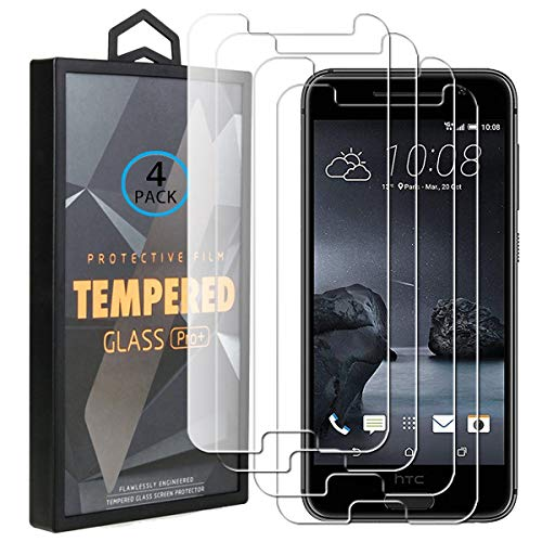 Ycloud 4 Pack Vidrio Templado Protector para HTC One A9, [9H Dureza, Anti-Scratch] Transparente Screen Protector Cristal Templado para HTC One A9