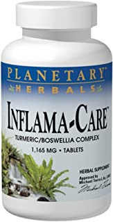 Planetary Herbals Inflama-Care 1165mg Turmeric/Boswellia Complex - 60 Tablets