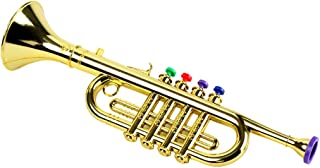 Milisten Juguete de Música de Trompeta para Niños Instrumentos Musicales de Viento para Niños Trompeta de Saxofón Trompeta Juguete de Aprendizaje Temprano para Niños Pequeños Oro