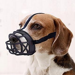 Mayerzon Dog Muzzle, Basket Breathable Silicone Dog Muzzle for Anti-Barking and Anti-Chewing (Size1-7.8/2.7in, Black)