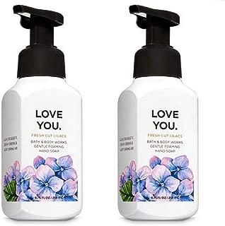 Bath & Body Works Gentle Foaming Hand Soap LOVE YOU in FRESH CUT LILACS (Pack of 2)