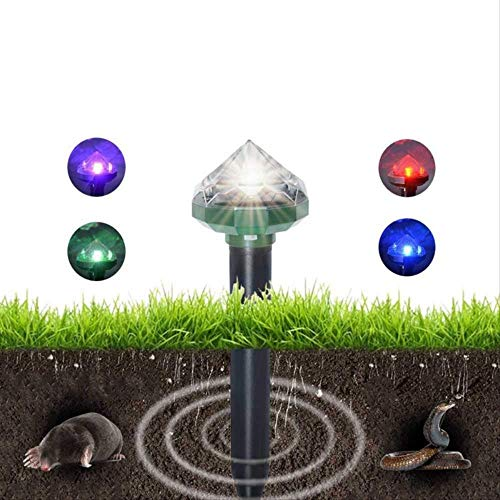 Anti Taupe Ultrason Solaire Mole Repeller Solar Outdoor Solar Ultrasonic Mouse Repellent Diamond Light Pest Control Products Outdoor Garden Supplies