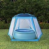 Goliraya Tente de Piscine Tissu Douce et Durable - Résistante aux UV et à l'eau - 500x433x250 cm Bleu